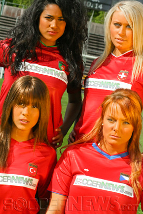 Soccer Babes - Group A: Portugal, Switzerland, Turkey & Czech