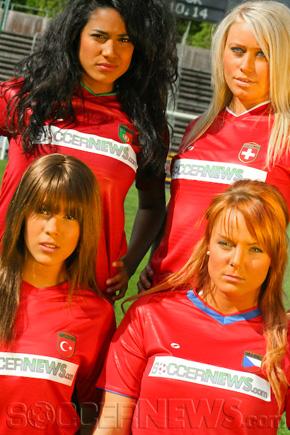 Soccer Babes - Group A: Portugal, Switzerland, Turkey & Czech