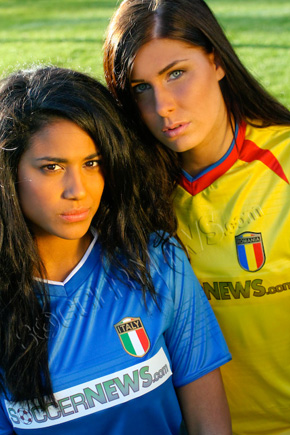 Soccer Babes - Italy & Romania