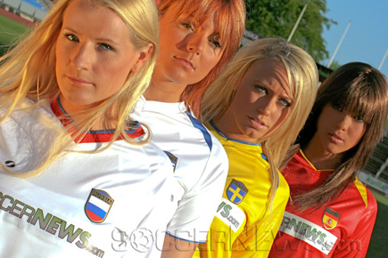 Soccer Babes - Group D: Russia, Greece, Sweden & Spain