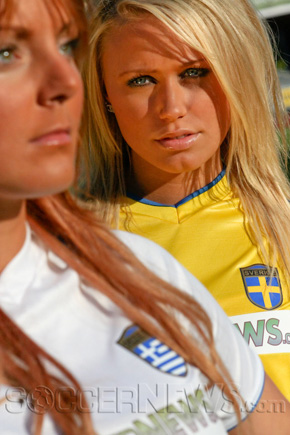 Soccer Babes - Greece & Sweden