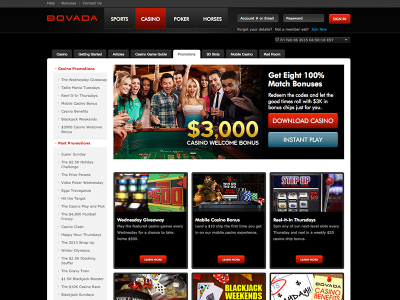Bovada Casino Review & Ratings - Guide to Bovada Casino
