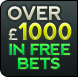 Over 1000 in Free Bets