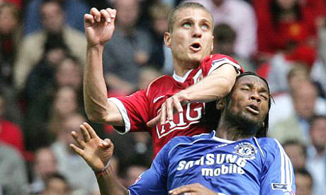 Drogba too strong for Vidic and co?
