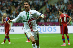 Cristiano Ronaldo scores winning goal for Portugal