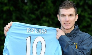 Edin Dzeko was a key player as Manchester City won 2-0 at Arsenal