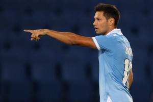 Mauro Zarate's representative Luis Ruzzi has declared 'war' on Lazio president Claudio Lotito after the club placed a £5 million price-tag on the out-of-favour Argentine forward.