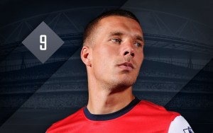 Arsenal attacker Lukas Podolski