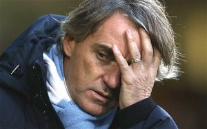 Manchester City boss Roberto Mancini is under-pressure as his side prepare to host Chelsea at the Etihad Stadium