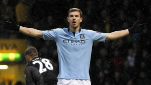 Borussia Dortmund general manager Michael Zorc has confirmed the club's interest in Manchester City striker Edin Dzeko.