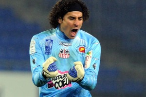 Mexico goalkeeper Guillermo Ochoa has insisted he is happy at Ajaccio amid ongoing speculation linking him with Liverpool.