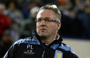 Aston Villa boss Paul Lambert will be looking for his team to claim a surprise victory against Manchester City on Monday night