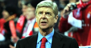 Arsene Wenger's Arsenal team won 2-0 at Bayern Munich, but went out the Champions league on away goals