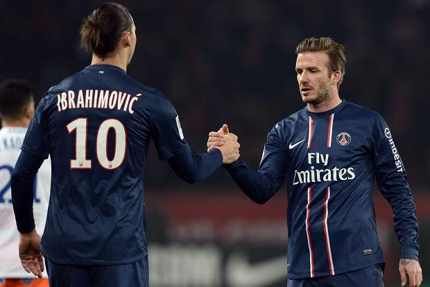 Paris Saint-Germain striker Zlatan Ibrahimovic has urged David Beckham to extend his stay at the Parc des Princes.