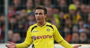 Mario Gotze missed three gilt-edged chances in Dortmund's 0-0 draw with Malaga in the Champions League