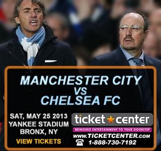 Chelsea vs Manchester City  at Yankee Stadium