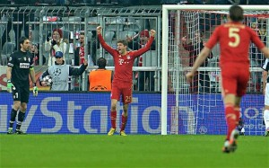 Thomas Muller scored Bayern second goal in the 2-0 Champions League defeat of Juventus
