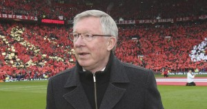 Sir Alex Ferguson recieved a rousting send-off in his last home game as Manchester United boss