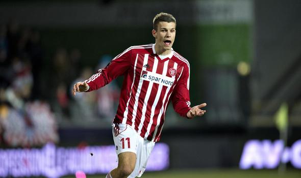 Aston Villa have completed the signing of Denmark international striker Nicklas Helenius from Danish Superliga side Aalborg BK.
