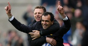 Roberto Martinez has appointed Graeme Jones (pictured above with Martinez) as part of his new backroom staff at Goodison Park