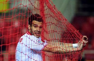 City's new striker Alvaro Negredo certainly knows where the net is