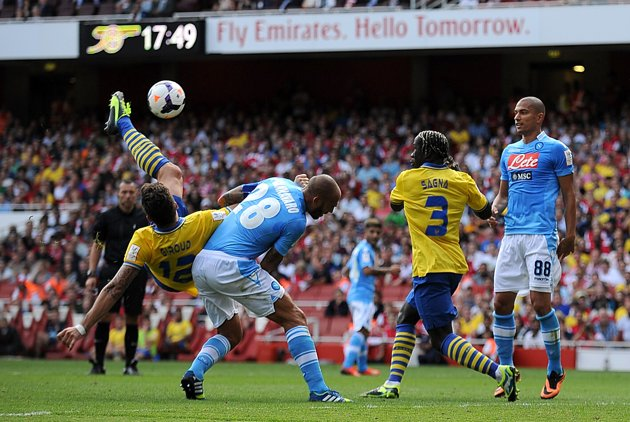 Arsenal will host S.S.C. Napoli at the Emirates Stadium on Tuesday night.
