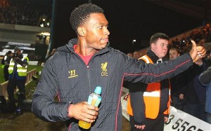 Striker Daniel Sturridge has scored in every game for Liverpool this season
