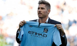 Manchester City central midfielder Javi Garcia did not look comfortable playing at centre-back against CSKA Moscow
