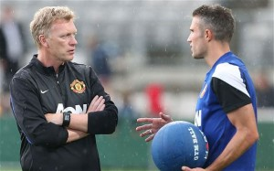 Manchester United boss David Moyes has denied claims that there is a rift between the Scot and star striker Robin Van Persie