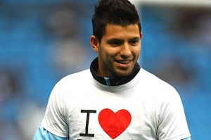Sergio Aguero scored twice as Manchester City defeated Everton 3-1 at the Etihad Stadium