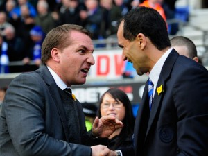 Brendan Rodgers and Roberto Martinez will meet for the first time as respective bosses of Merseyside giants Liverpool and Everton this Saturday