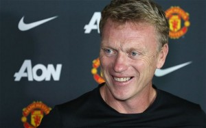 Will Manchester United boss David Moyes be all smiles after the Red Devils game against Tottenham on Sunday
