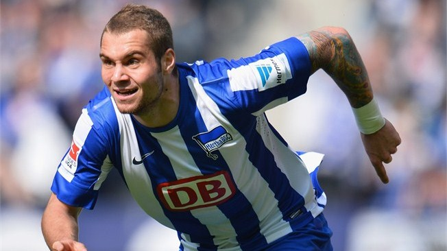Hertha BSC manager Jos Luhukay has revealed the club will decide the long-term future of Pierre-Michel Lasogga after the striker returns from his loan at Hamburger SV.