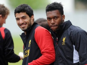Liverpool strike pair Daniel Sturridge and Luis Suarez will be looking to get the better of Arsenal in this weekends top of the table clash