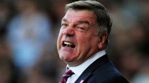 West Ham boss Sam Allardyce watched his side down to a 2-1 defeat at Norwich yesterday