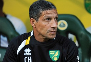 Chris Hughton's Norwich are just two points clear of the relegation zone after yesterdays 2-0 defeat at Everton