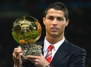 Real Madrid forward Cristiano Ronaldo was yesterday awarded the 2013 Ballon d'Or award