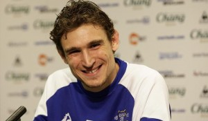 Everton striker Nikica Jelavic has not had much to smile about and could be set to move to Hull