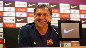 Barcelona boss Tata Martino must have been happy with his team's 2-0 win at Manchester City in the Champions League