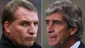Liverpool boss Brendan Rodgers and City counterpart Manuel Pellegrini will be looking for sides to gain the upper hand in the title race in Sunday's crunch clash