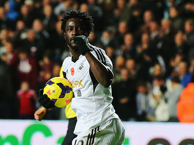 Swansea City record signing Wilfried Bony has underlined his ambition of playing UEFA Champions League football in the near future.