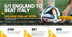 England italy betting odds brotha on bet