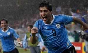 Liverpool striker Luis Suarez scored a brace for Uguguay as Le Celeste defeated England 2-1 on Thursday night
