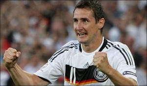 Germany striker Miroslav Klose could become the record ever scorer at World Cups in Brazil this summer