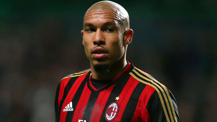 Nigel de Jong has rubbished reports suggesting he wants to leave AC Milan in response to the sacking of manager Clarence Seedorf.