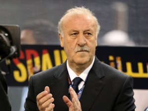 Spain boss Vicente del Bosque looked on as his team were defeated 2-0 by Chile and exited the World Cup at the group stage