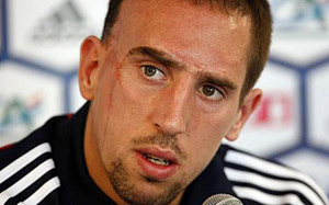 Frank Ribery will miss the World Cup in Brazil