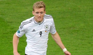 Chelsea forward Andre Schurrle opened the scoring for Germany against Algeria in extra-time