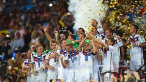 Germany lifted the World Cup last night after beating Argentina 1-0 in extra-time of the World Cup final