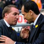 Former-Swansea bosses Brendan Rodgers and Roberto Martinez go head-t-head in the Merseyside derby on Saturday